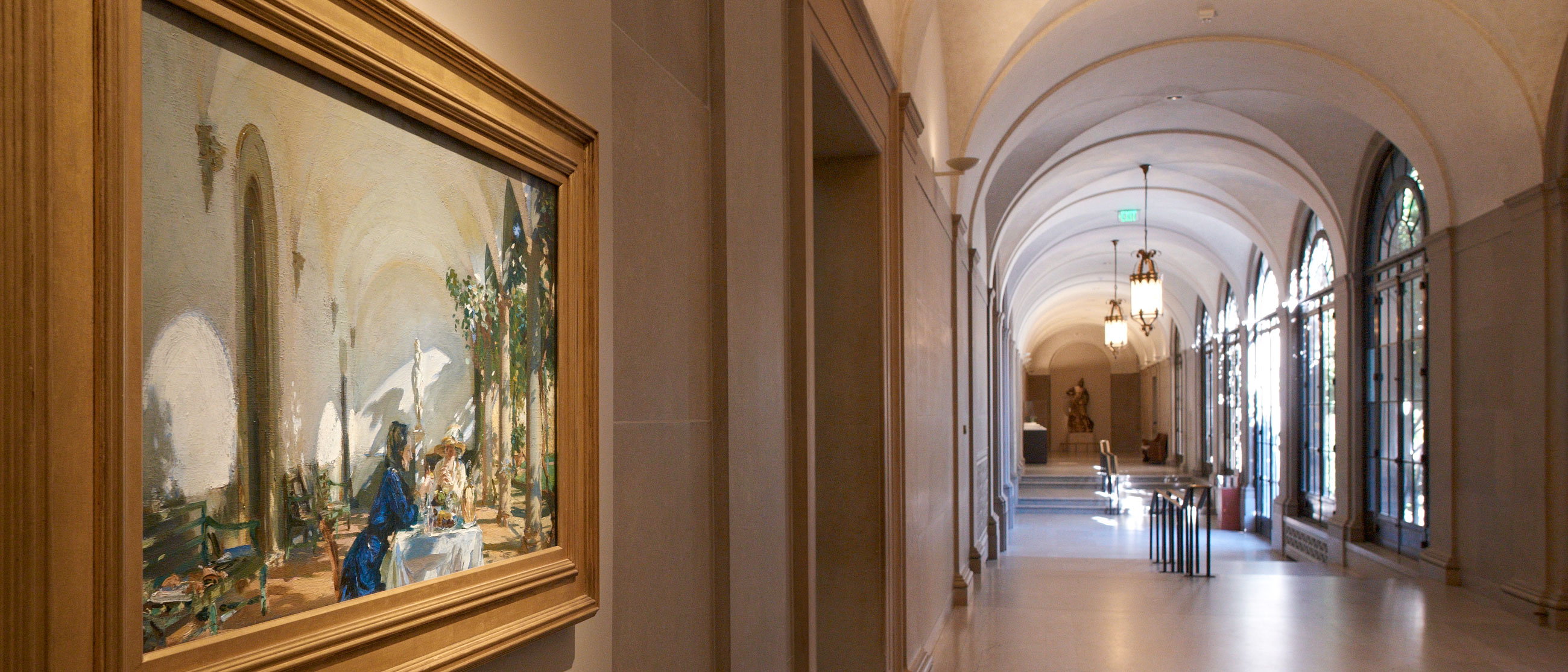 View of Breakfast in the Loggia and Freer corridor