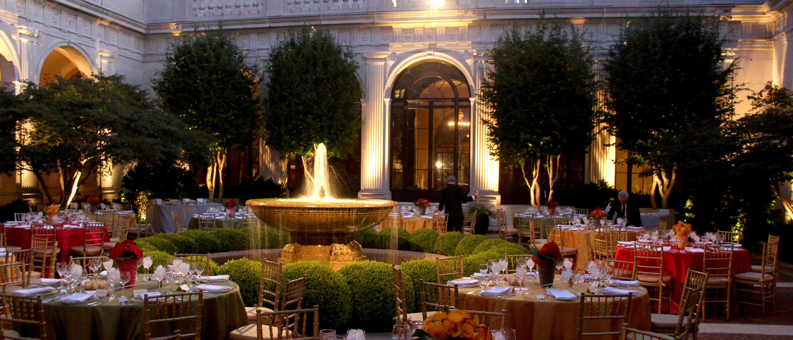 The Freer Courtyard, set for a gala