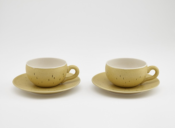 Image of Pair of coffee cups and saucers