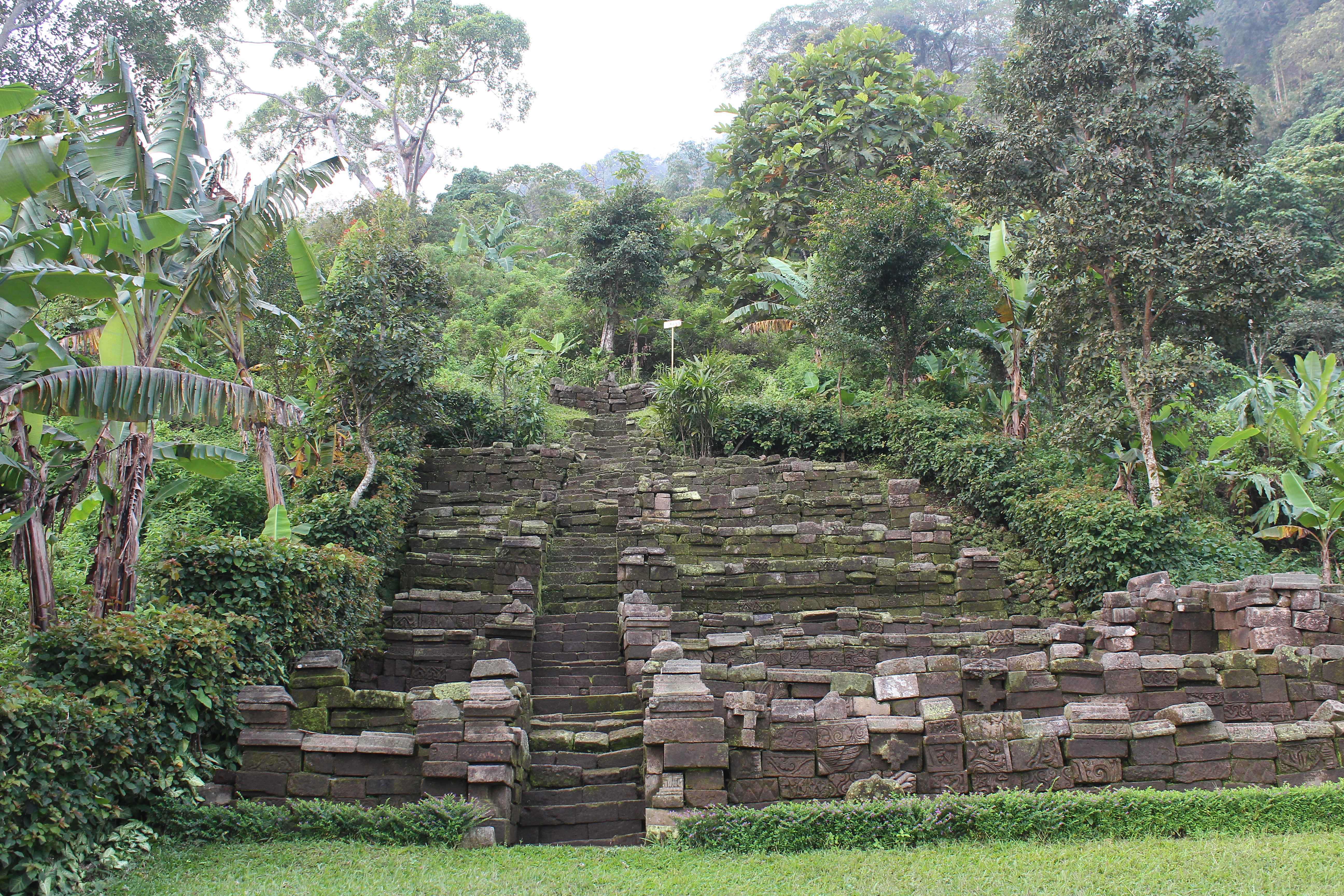Terraced temple high on a mountaintop